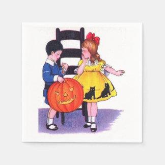 Kinder Partij Vintage Halloween Papieren Servet