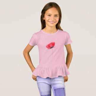 Kinder t-shirt met Rode papaver