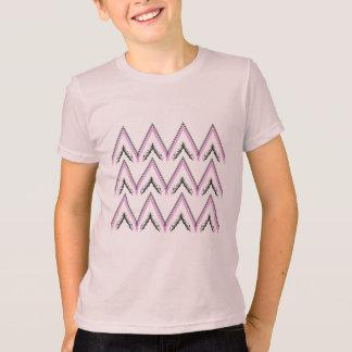 Kinder t-shirtroze met de Strepen van de Zigzag T Shirt