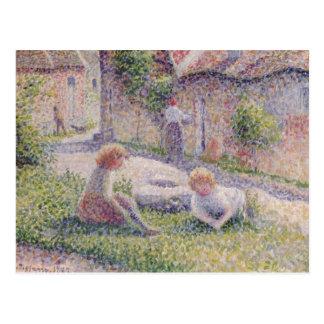 Kinderen op het Briefkaart van het Impressionisme