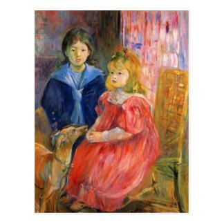 Kinderen van Gabriel Thomas door Berthe Morisot Briefkaart
