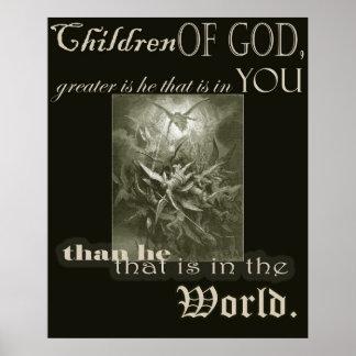 Kinderen van het Poster van de God