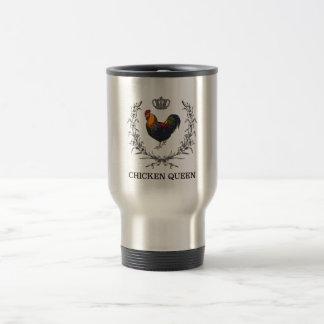 Kip Koningin Travel Mug door Pluizige Lagen Reisbeker