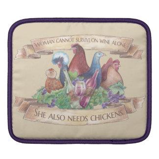 Kippen en Wijn Beschermhoes Voor iPad