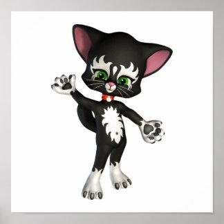 Kit E. Cat, het Leuke Katje van de Cartoon Poster
