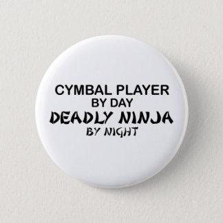 Klankbekken Dodelijke 's nachts Ninja Ronde Button 5,7 Cm