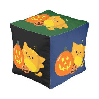 Klantgericht Halloween - de Kat van de Pompoen Poef