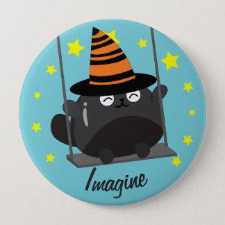 Klantgericht Halloween - Dromerig Halloween Ronde Button 4,0 Cm