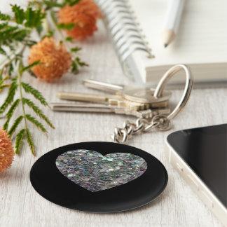 Klantgericht Sparkly kleurrijk zilveren Basic Ronde Button Sleutelhanger