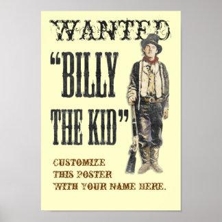 Klantgerichte Billy het Kind Poster
