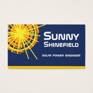 Klantgerichte de Ingenieur van de Zonne-energie Visitekaartjes