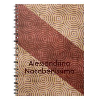 Klantgerichte Diagonalen van de Lijn van Bourgondi Notitieboek