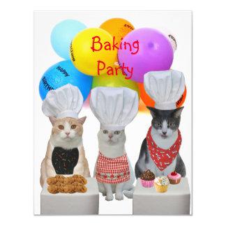 Klantgerichte Grappige Katten die de Uitnodiging
