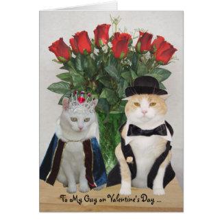 Klantgerichte Grappige Katten Valentijn Briefkaarten 0