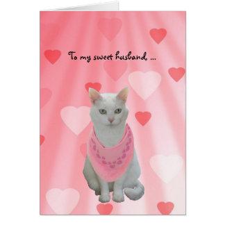 Klantgerichte Grappige Katten Valentijn voor Wenskaart