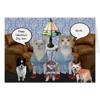 Klantgerichte Grappige Katten Valentijn Wenskaart