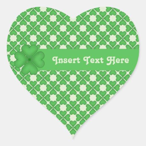 Klantgerichte het patroon van vier Harten van de Hart Sticker