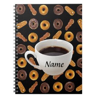 Klantgerichte koffie en Donuts Ringband Notitieboek