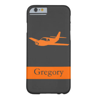 Klantgerichte oranje grijze vliegtuigiPhone 6 hoes