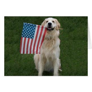 Klantgerichte Patriottische Hond Briefkaarten 0