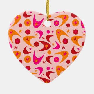 Klantgerichte Retro Boemerangen Keramisch Hart Ornament