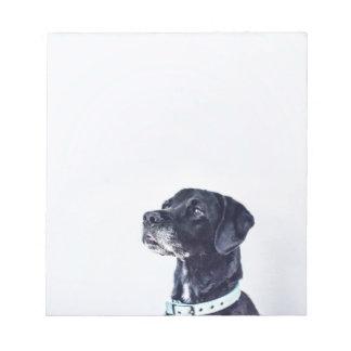 Klantgerichte Zwarte Labrador Notitieblok