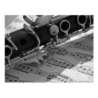 Klarinet met de Muziek van het Blad Briefkaart