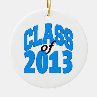 Klasse van 2013 (blauw) rond keramisch ornament