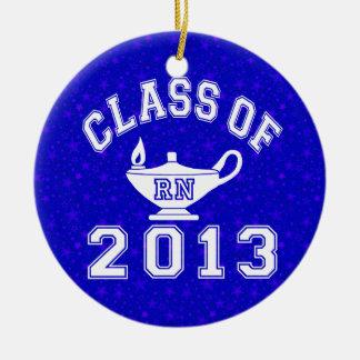 Klasse van 2013 RN Rond Keramisch Ornament