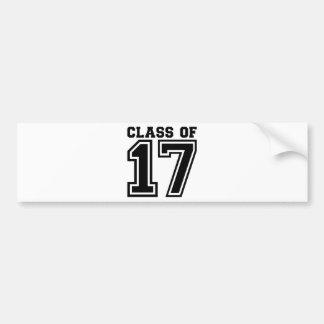 Klasse van 2017 bumpersticker