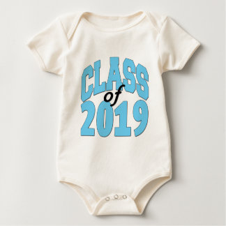 Klasse van het blauw van 2019 baby shirt