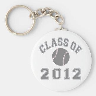 Klasse van het Honkbal van 2012 - Grijs Sleutelhanger