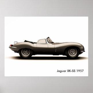 Klassiek autoafbeelding voor poster