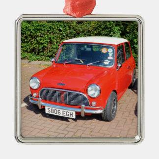 Klassiek Brits Austin Zilverkleurig Vierkant Ornament