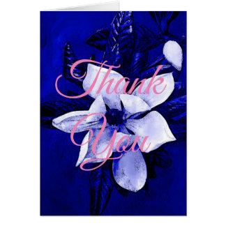 Klassiek dank u Blauwe Roze Beroeps Kaart