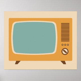 Klassiek Grafisch Televisietoestel Poster