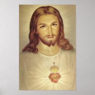 Klassiek Heilig Hart van Jesus Poster