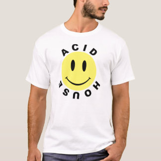 Klassiek Zuur Huis Smiley T Shirt
