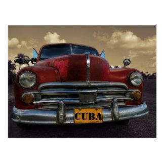 Klassieke Amerikaanse auto in Vinales, Cuba Briefkaart
