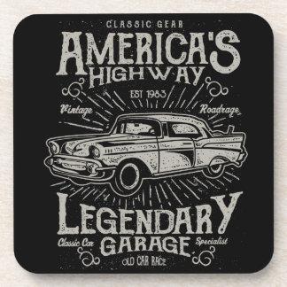 Klassieke Amerikaanse de Weg van Hotrod van de Bier Onderzetter