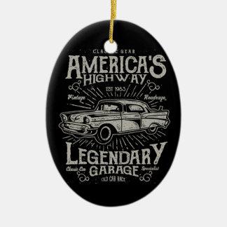 Klassieke Amerikaanse de Weg van Hotrod van de Keramisch Ovaal Ornament