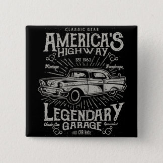 Klassieke Amerikaanse de Weg van Hotrod van de Vierkante Button 5,1 Cm