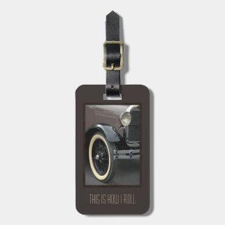 Klassieke Auto rol ik zo het Label van de Bagage Bagagelabel