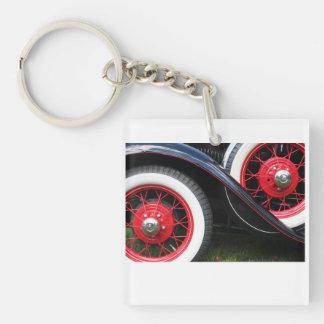 Klassieke auto zeer belangrijke ketting 1-Zijde vierkante acryl sleutelhanger
