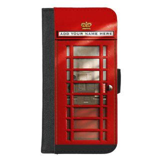 Klassieke Britse Rode Gepersonaliseerde iPhone 8/7 Plus Portemonnee Hoesje