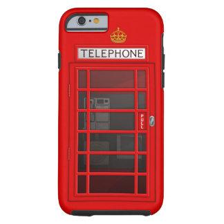 Klassieke Britse Rode iPhone 6 van de Telefooncel  Tough iPhone 6 Hoesje