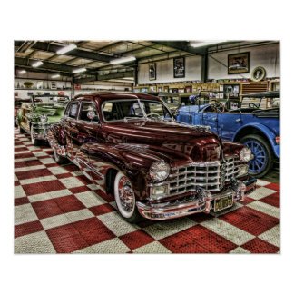 Klassieke de straatstaaf van Cadillac Poster