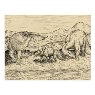 Klassieke Dinosaurussen Briefkaart