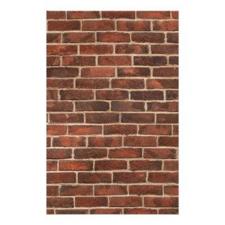 Klassieke Druk Brickwall Persoonlijk Briefpapier