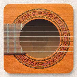 Klassieke gitaar oranje tan bier onderzetter